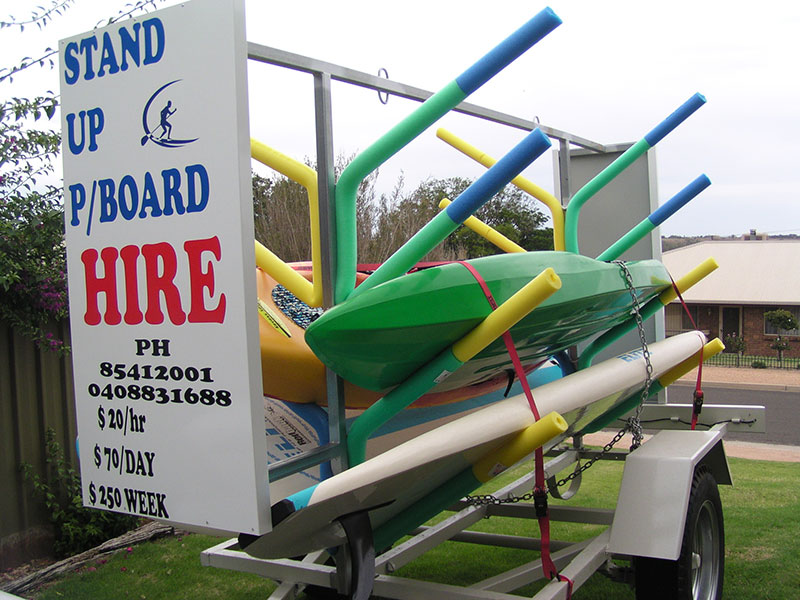 Green and Gold Paddleboard hire